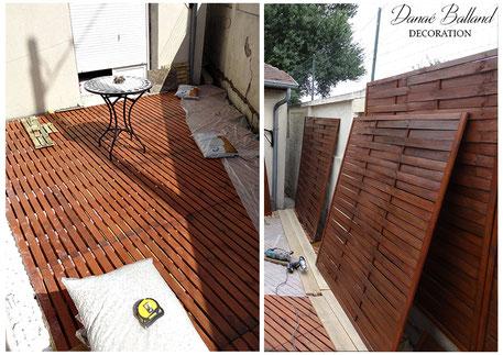 Travaux cour extérieure plancher bois