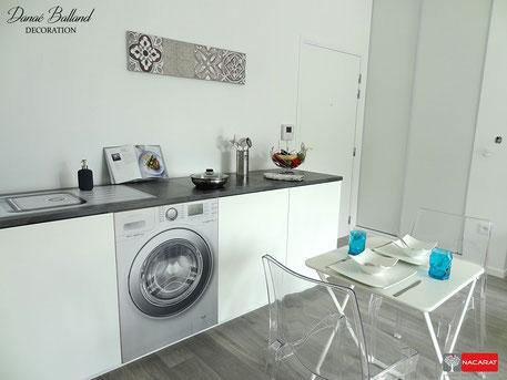 Cuisine factice décoration appartement témoin