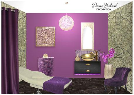 Décoration institut de beauté Danaé Balland