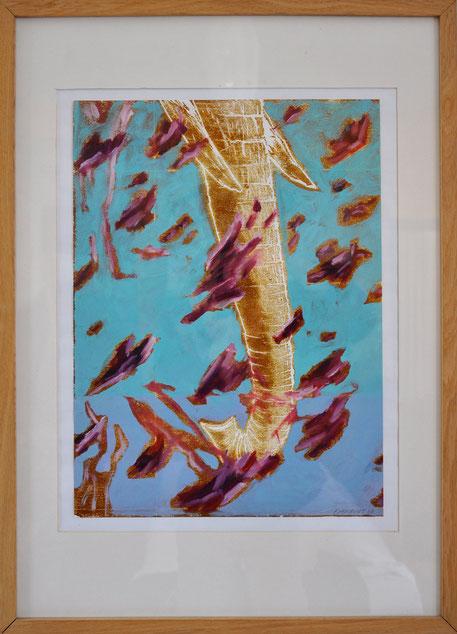 Bolywood ~~ 2007 - xylogravure et huile sur papier - 50x70cm