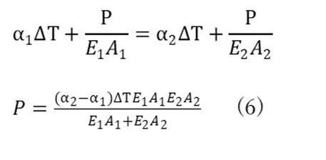 (4)=(5)からPの式(6)を得る。