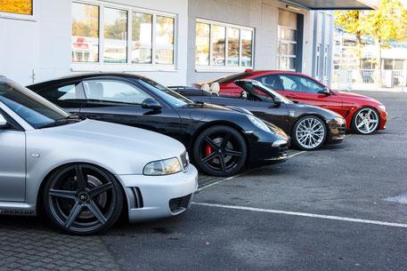 Damm-Fahrzeugtechnik / Audi RS4 / Tuning / Innenhof