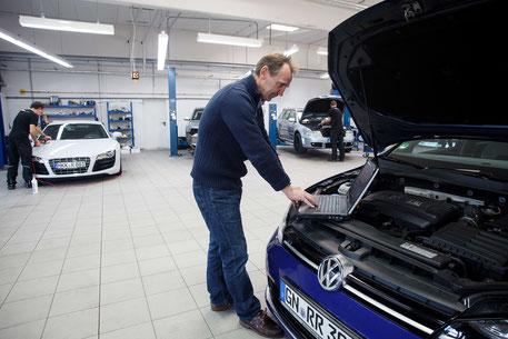 Damm-Fahrzeugtechnik / Audi RS4 / Tuning / Werksatt