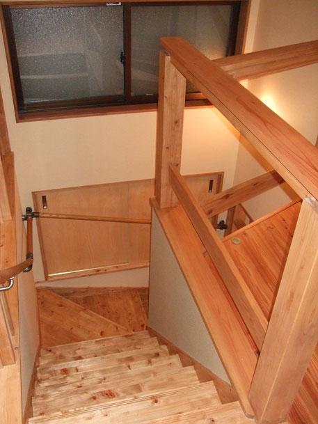 階段掛け替え