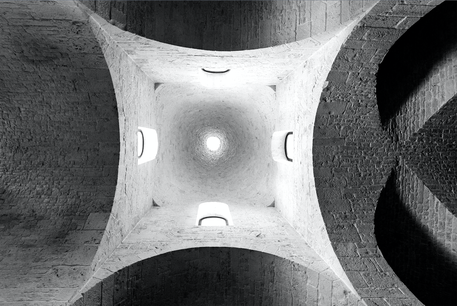 Particolare in prospettiva della chiesa di Sant'Antonio (la chiesa Trullo)  di Alberobello.