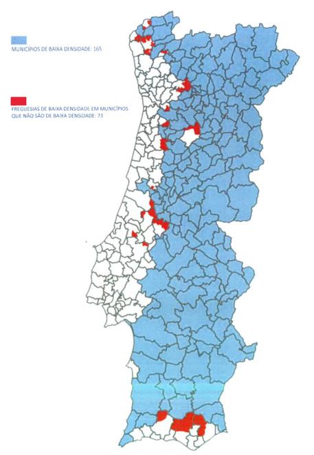 Low density areas Portugal golden visa