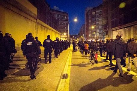 Spontan solidaritetsdemo i Barcelona med de fængslede anarkister