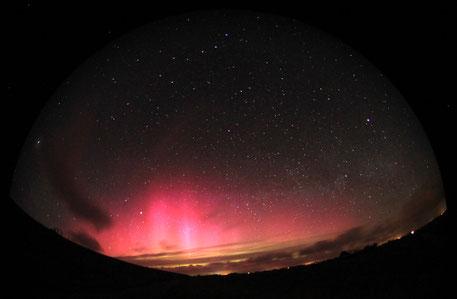 Nordlicht über Pellworm. Bild: Dr. Andreas Hänel