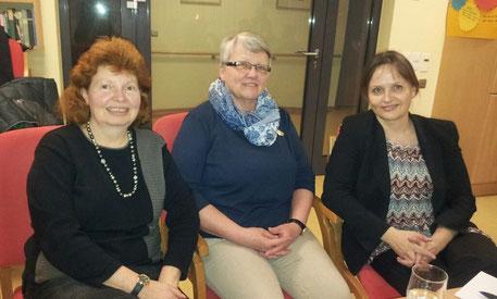 Carla Henrich, Elisabeth Strasser, Pfr. Prof. Dr. Kirsten Huxel (von links nach rechts). Foto: Privat