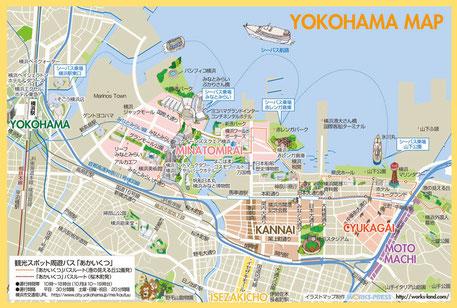 横浜イラストマップ