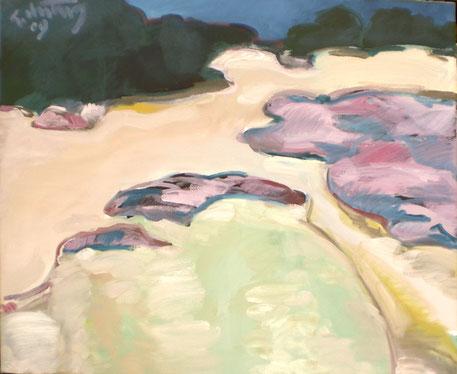 """""""Heidelandschaft"""", 2009, Öl/Leinwand, 50 x 60 cm"""