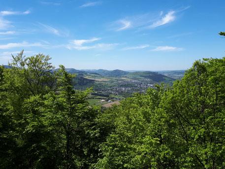 Blick vom Borberg auf Olsberg, Rundwanderung ab Haus am Wald, ca. 3 Stunden