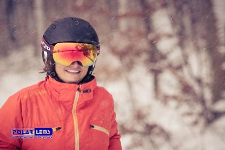 Skibrille im Winterwald