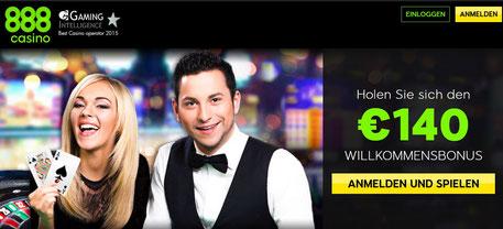Willkommensangebot von 888 Casino
