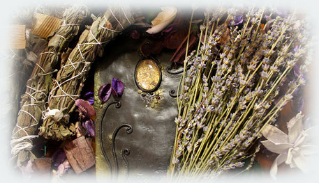 The Purple Witch Apothecary - Witch kit, Witchery set, Wicca, pagan and magic altar tool dry herbs smudge incense esoteric soap candle bath salt