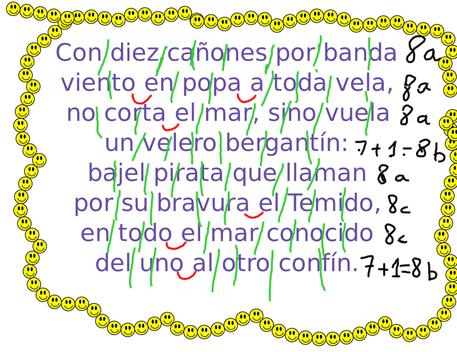 Análisis métrico de la Canción del pirata, de Espronceda.