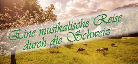 """Flyer des BKGV zur """"Musikalischen Schweizerreise"""""""