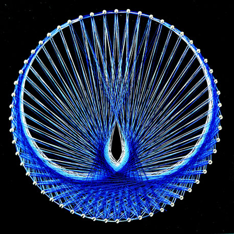 鳳凰 糸かけ曼荼羅