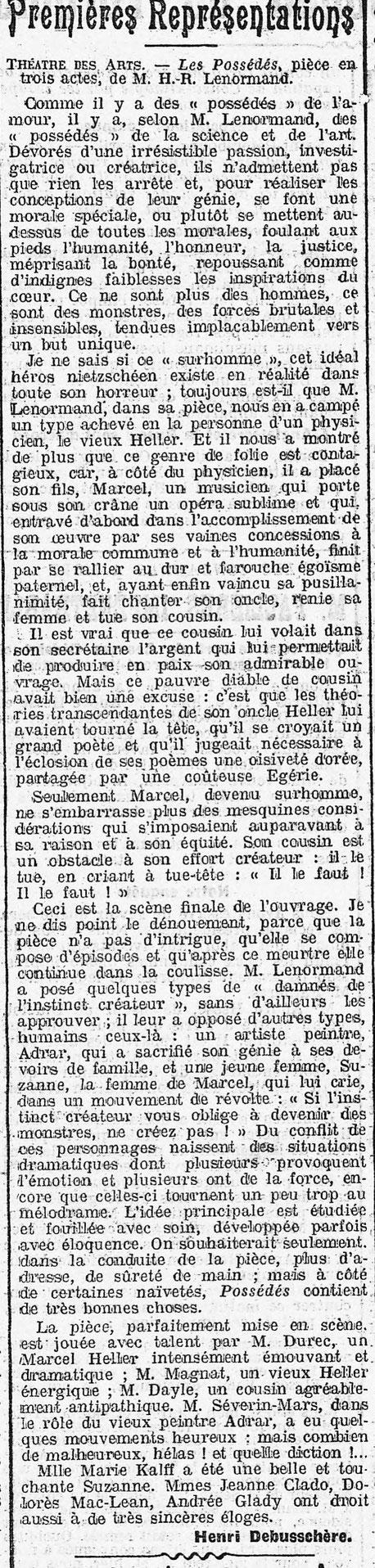 La Presse 16 avril 1909