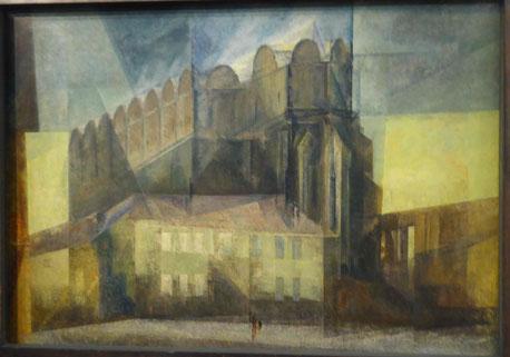 Der Dom zu Halle, Bild von Lyonel Feininger, Foto: Weil
