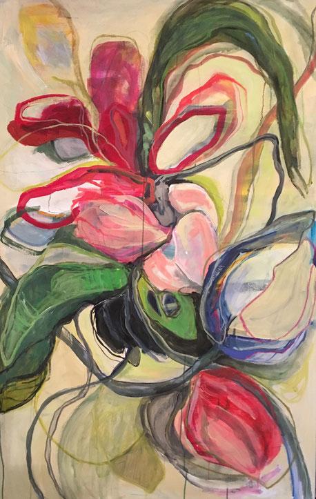 Komposition, Acryl auf Leinwand, 150cmx95cm, 2019