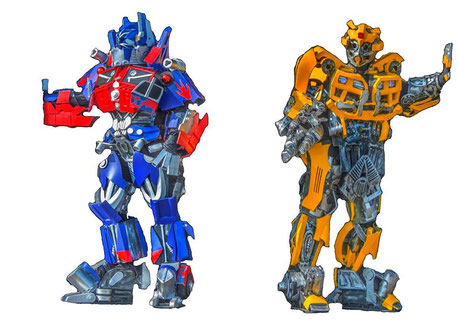 mascotte transformers ,robot transformers bumblebee et optimus pour vos fetes ,carnaval, showlive, club, party , soirée, kids, enfant , animation transformers