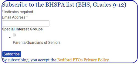Image of the BHSPA List Subscription Box from the BHS website