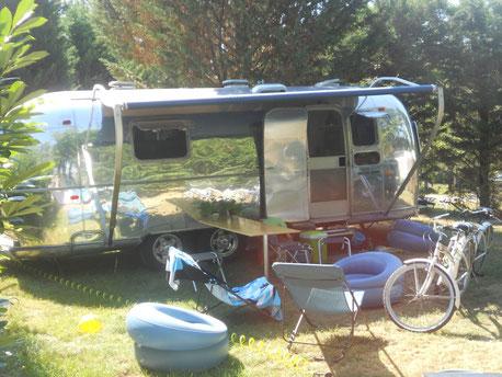 Airstream au camping de l'Etang de Bazange