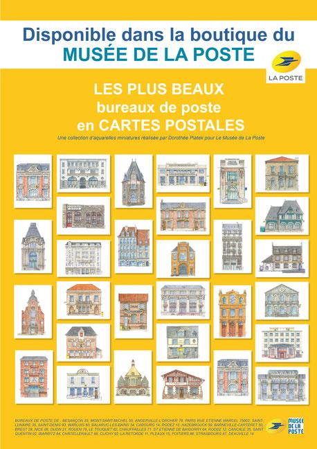 Bureaux de poste, la poste, facteur, carte postale, collection, timbre, philatélie, musée la poste, courrier, lettre, colis, BESANÇON, MONT-SAINT-MICHEL, ANGERVILLE-L'ORCHER , PARIS, SAINT-LUNAIRE, SAINT-DENIS, WARLUIS, BALARUC-LES-BAINS, CABOURG, RODEZ