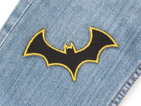 Bild: Fledermaus Aufnäher zum aufbügeln, Halloween Patch Aufbügler für Kinder