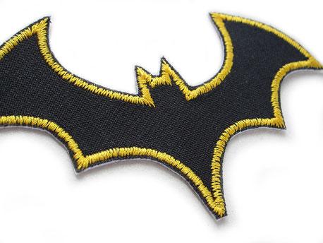 Bild: Fledermaus Bügelbild, schwarze Fledermaus zum aufbügeln, Flicken für Kinder