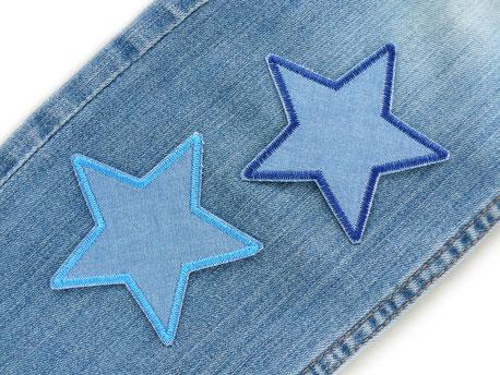 Bild: Stern Jeansflicken zum aufbügeln, Flicken Set zum Sparpreis, Bügelflicken für Kinder