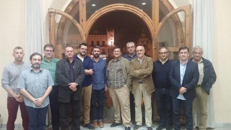 Fuset (regidor); Hernández, Serrano i Vallés (Interagr); Lluch (F. Falles Ingeni i Gràcia); Romero (Fed. Falles 1ºA); Luque i Giménez (Fed. Falles d'Especial), Santamaría (delegat de Sector i membre JCF); Estellés (F. Pere Cabanes) i Climent (F. Totana)