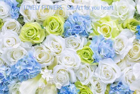 Zauberhafte Seidenblumen- & Textilblumenkunst bei www.lovelyflowers.de