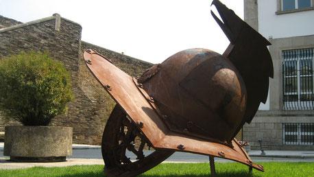 Casco de Gladiador. Plaza del Ferrol, Lugo