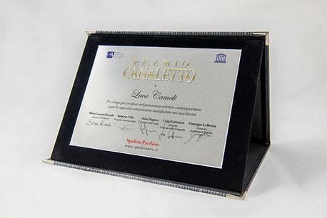 """Luca Cameli - """"Premio Canaletto"""" indetto da Spoleto Arte a cura di Vittorio Sgarbi, contest """"La Biennale di Venezia D'Arte 2019""""."""