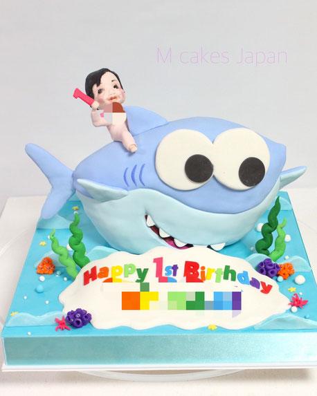 #ベビーシャーク #さめのかぞく #babyshark #babysharkcake #1歳 #お誕生日ケーキ #サメ #シャーク #子供 #ベビー #kids #kidscake #japanbased #japanesemade #🇯🇵