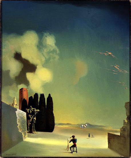 Сальвадор Дали. Загадочные элементы в пейзаже (1934), картины сальвадора дали стоимость
