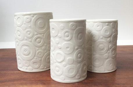 Vases. Porcelaine. Brigitte Morel