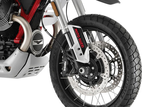 Moto Guzzi V85 TT Ölwannenschutz und Gabelprotektoren
