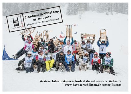 Original Davoserschlitten der Ardüser Schreinerei in Davos