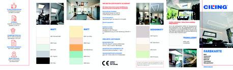 Bild CILING-Farbkarte matte Decken