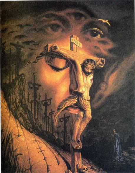 Peinture d'Octavio Ocampo, Calvary