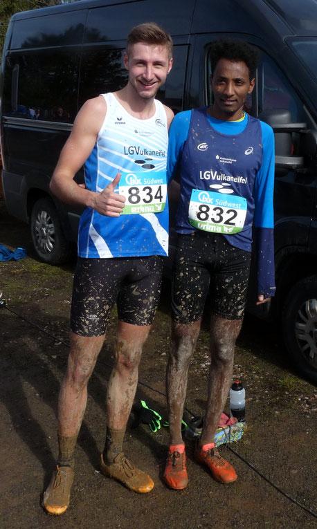 Doppelsieg auf der Mittelstrecke bei den Landesmeisterschaften - Samuel Fitwi und Jakob Gieße, Foto: Reifferscheid
