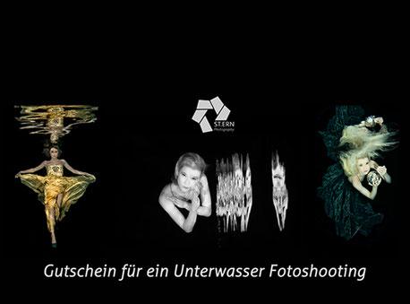 Gutschein für ein Unterwasserfotoshooting, Unterwasserfotografie, Babybauchfotografie, Studiofotografie