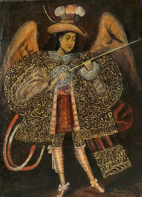 The Archangel Gabriel late 19th century Cuzco School