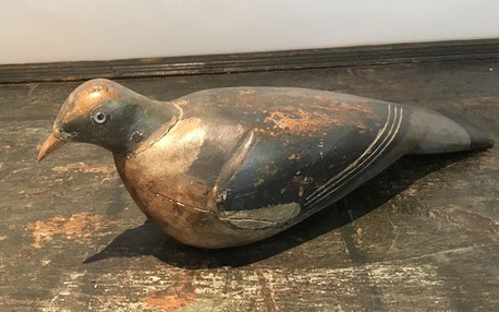 antique Painted decoy pigeon