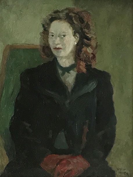 Mid 20th century portrait of a lady in green