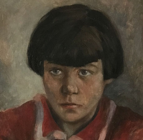 Mid 20th century Vintage portrait of a young Dutch girl
