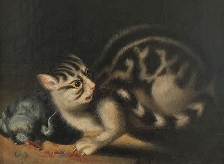 19th century folk art cat